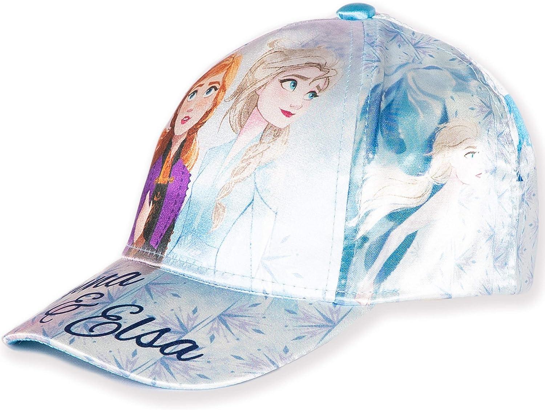 cappelli da baseball regolabili da bambina Disney Original Frozen 2 tessuto di raso cappello estivo da sole 2-8 anni