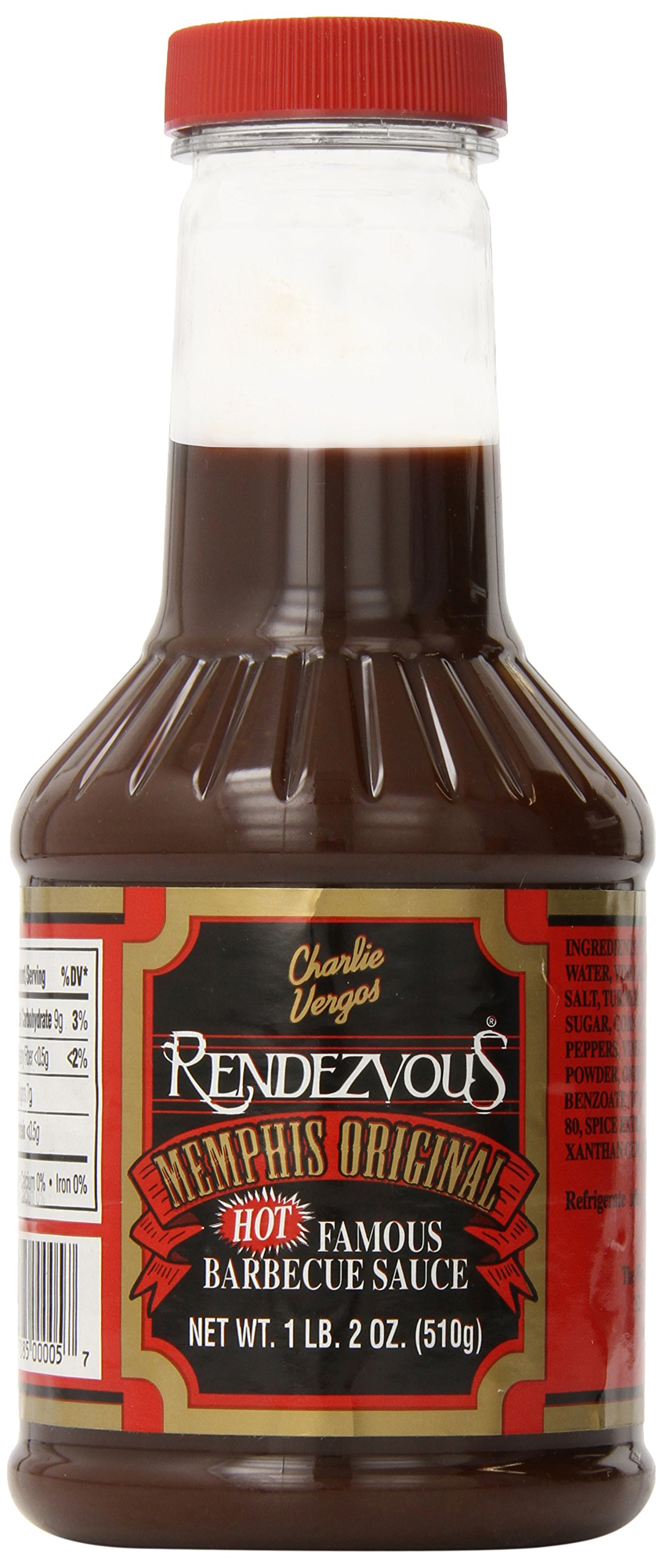 Charlie Vergos Rendezvous Hot Famous Memphis Barbecue Sauce * HOT 1lb 2oz