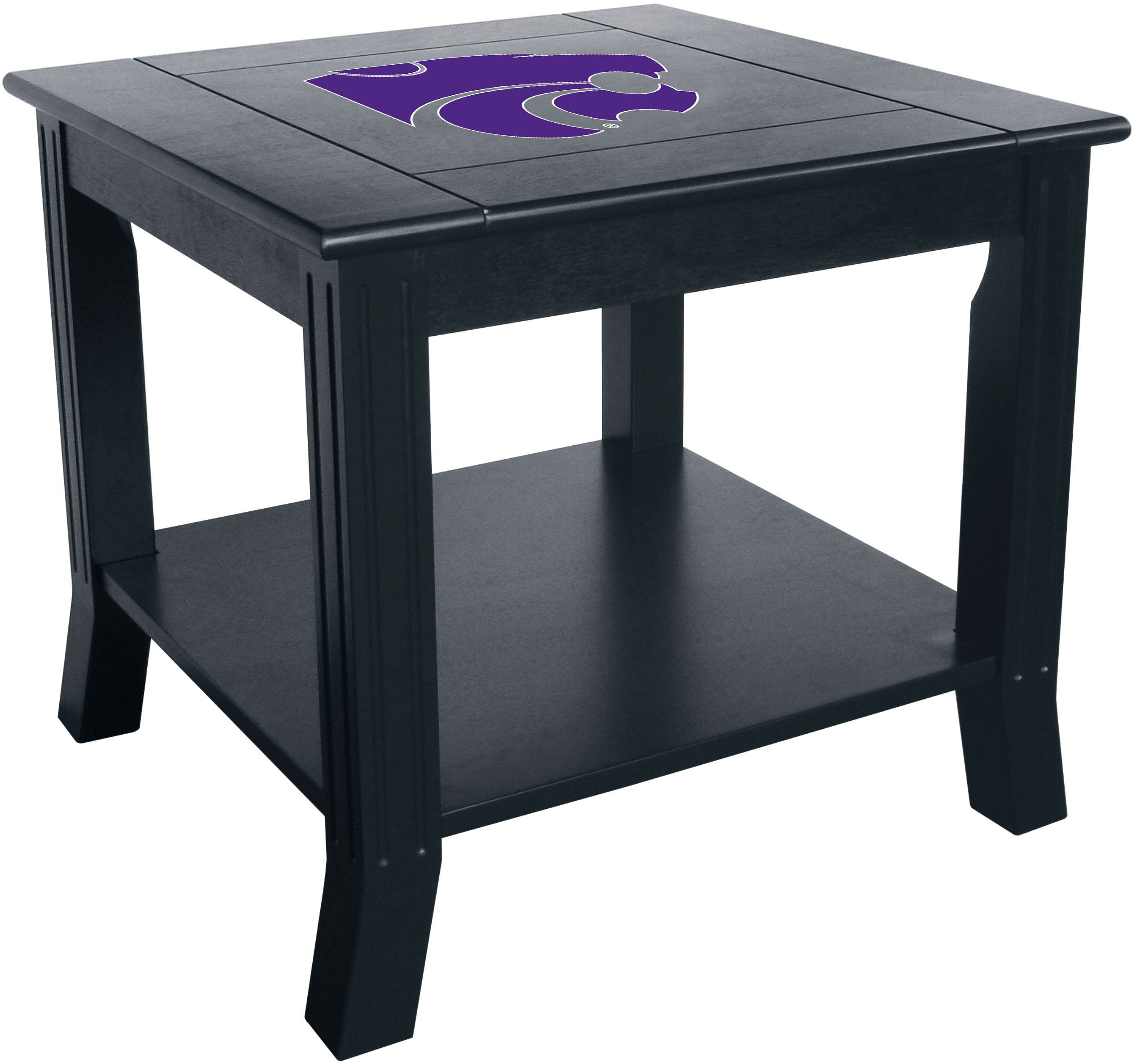 Imperial Officially Licensed NCAA Furniture: Hardwood Side/End Table, Kansas State Wildcats by Imperial