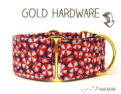 Collar Martingale Para Perro: Xmas Candy, Hecho a Mano en España por Wakakán: Amazon.es: Handmade