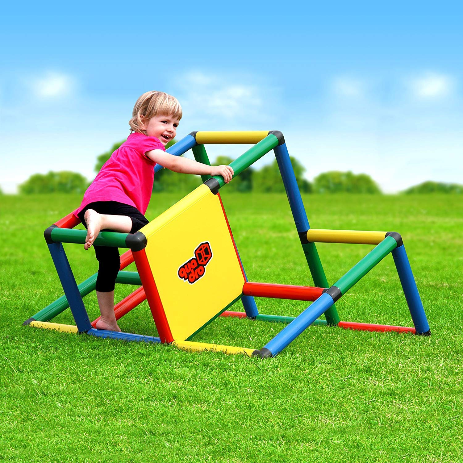 Quadro My First Rugged Indoor/Outdoor Climber, Tot/Toddler Jungle Gym, Expandable Modular Educational Component Playset, Giant Construction KIt, Play Structure, for Kids Ages 1-6 Years.