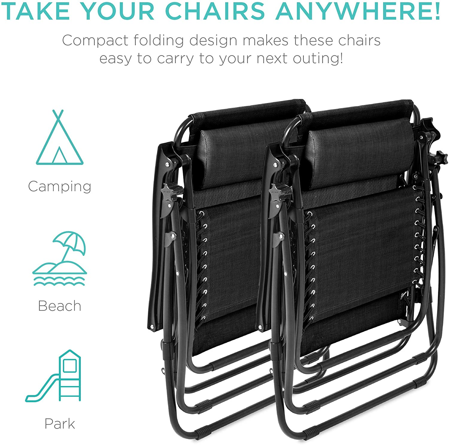 Best Choice Products Zero Gravity Chair take your chair anywhere