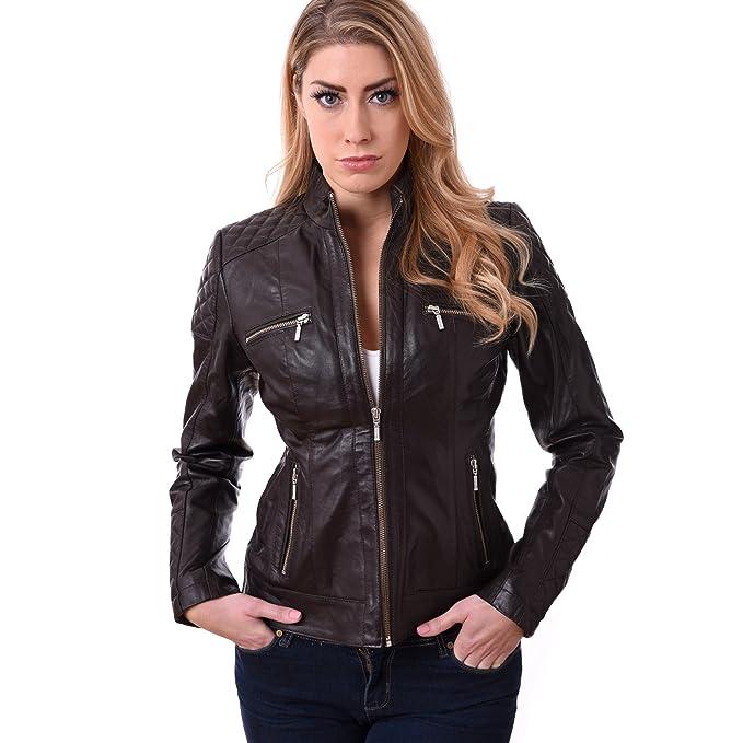 GBG - Chaqueta - Biker - para mujer marrón marrón S
