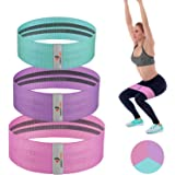 NEEKFOX Resistance Bands, Fabric Workout Bands, Exercise Bands for Legs and Butt, Women/Men Stretch Exercise Loops Sport…