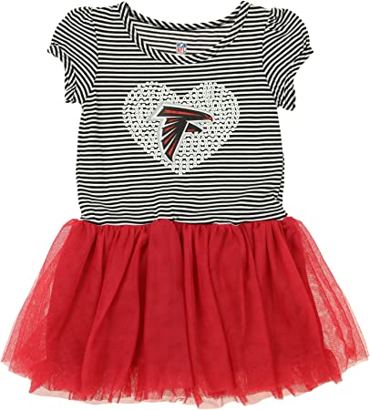OuterStuff NFL Infant and Toddler Girls Dress /& Legging Set Atlanta Falcons