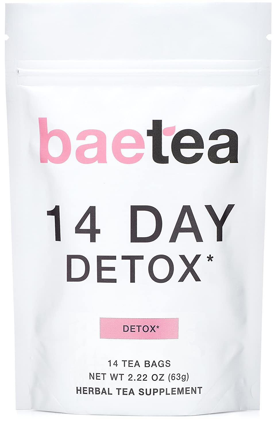 Baetea 14-Day Teatox Herbal Detox Tea Supplement with Green Tea & Ginger Root, 14 Tea Bags: Health & Personal Care