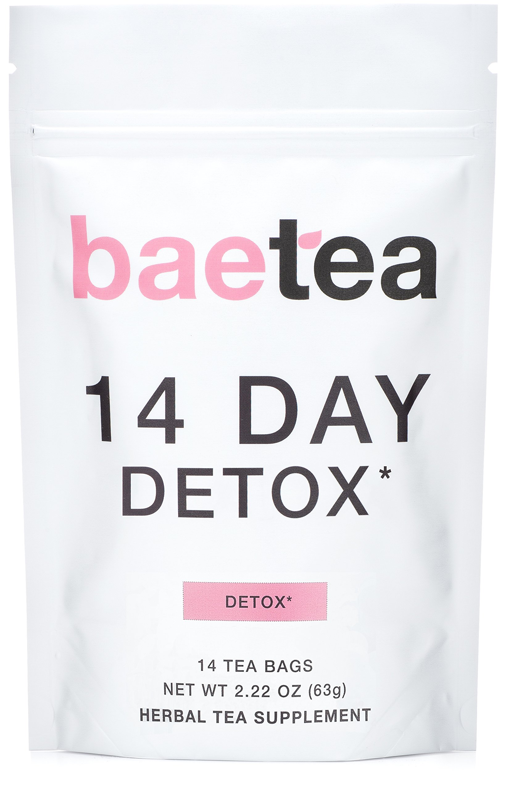 Baetea 14 Day Teatox Detox Herbal Tea Supplement (14 Tea Bags). by Baetea