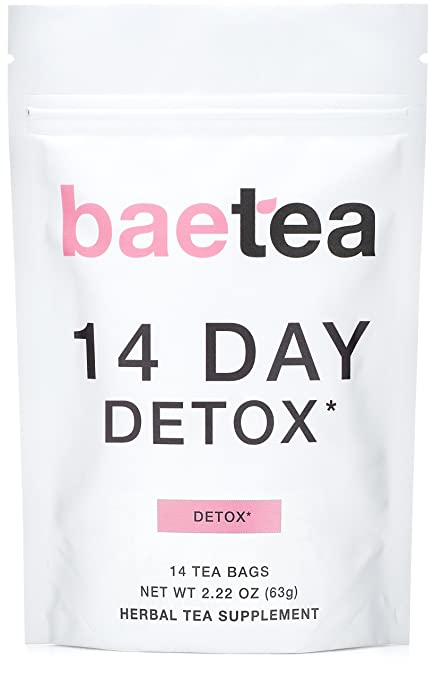 Baetea 14 Day Teatox Detox Herbal Tea Supplement (14 Tea Bags).