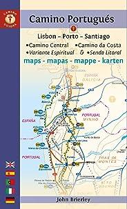 Camino Portugués Maps: Lisbon - Porto - Santiago / Camino Central, Camino de la Costa, Variente Espiritual & Senda Litoral