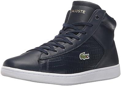 7763ac10a80ca1 Lacoste Women s Carnaby Evo Mid G316 1 Fashion Sneaker Navy