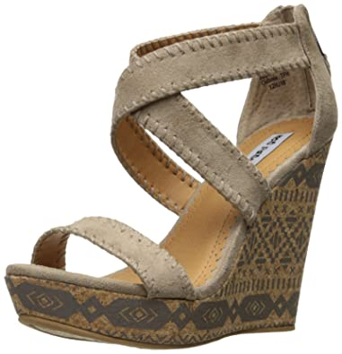 Not Rated Women's Remi Wedge Sandal, Taupe, ...