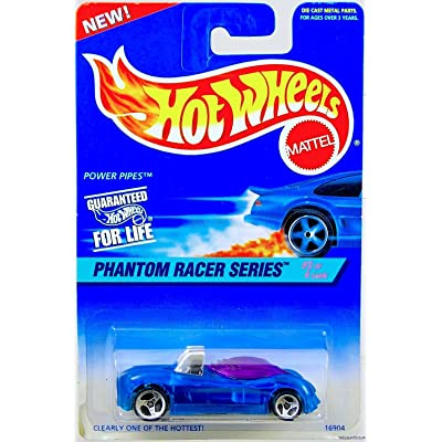 Mattel Hot Wheels 1997 Power Pipes Diecast Vehicle Collector #531 Phantom Racer Series 3 of 4 | Clear Blue Body Purple Tinted Windows Chrome Metal Car Base Synthetic Rubber 3 Spoke Wheels Model #16904: Toys & Games