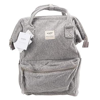 b4d732e7c9b Amazon.com: Anello Official Grey (Cotton) Japan Fashion Shoulder Rucksack  Backpack Tablet Travel Diaper Bag Unisex: Shoes