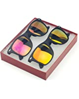 MJ Boutique's Classic Retro Classics Mirror Sunglasses - Yellow Color Mirror