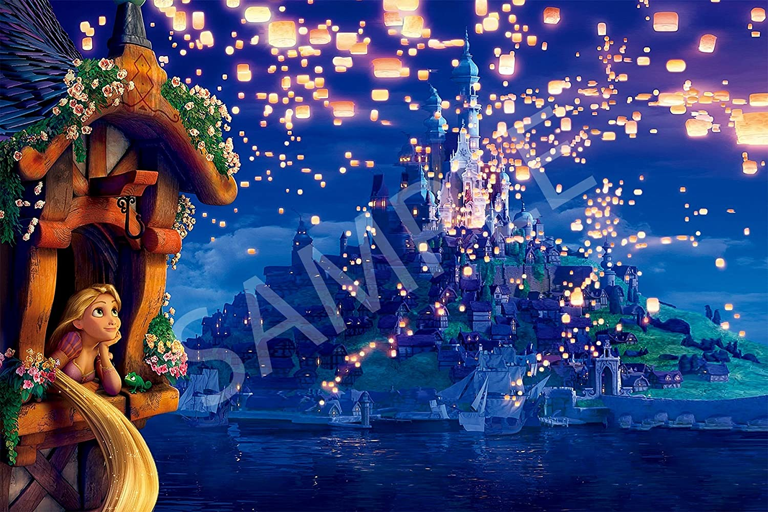 Amazon Com Best Print Store Disney Tangled Rapunzel Looking At Lanterns Kingdom Castle Scenery Poster 11x17 Inches Posters Prints
