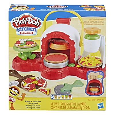 Play-Doh Stamp 'n Top Pizza Oven Toy with 5 Non-Toxic Play-Doh Colors: Toys & Games