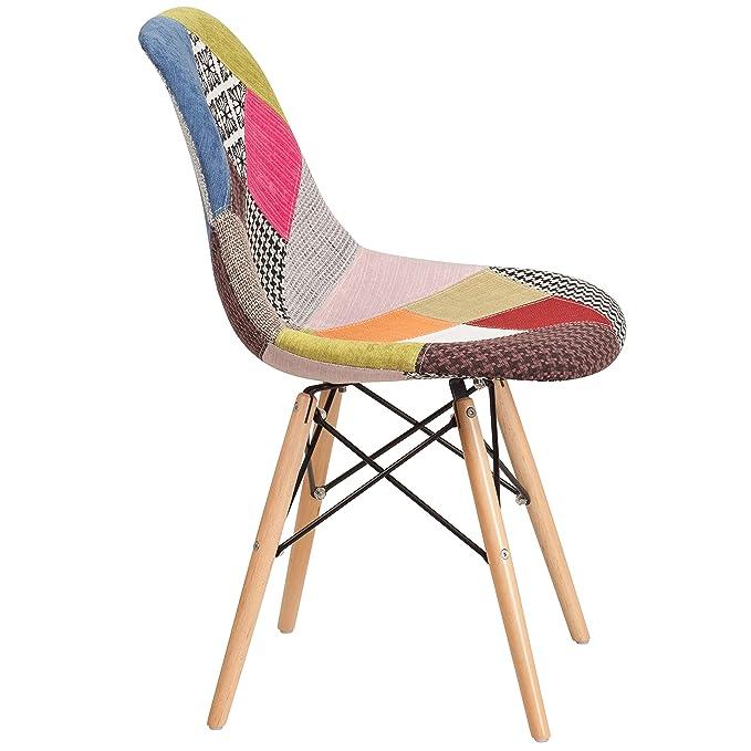 Amazon.com: flash furniture Elon Series Siena silla de tela ...