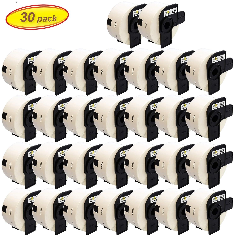 400 /Étiquettes par Rouleau 10 Compatibles Rouleaux DK11208 DK-11208 38mm x 90mm Papier /Étiquettes pour Brother P-Touch QL-500 QL-570 QL-700 QL-800 QL-810W QL-820NWB QL-1060N QL-1100 QL-1110NWB