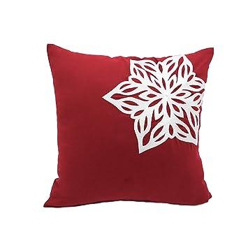 Amazon.com: Copos de nieve decorativo Throw almohada cover ...