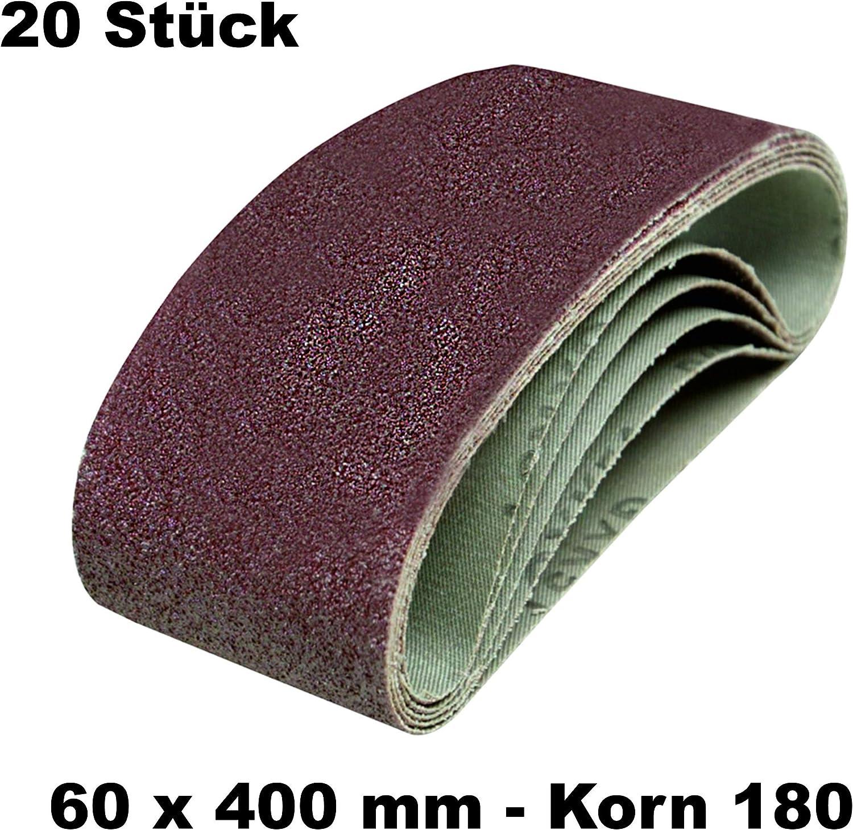 DKB Gewebe Schleifb/änder 60 x 400 mm Schleifband Bandschleifer 10, Korn 120
