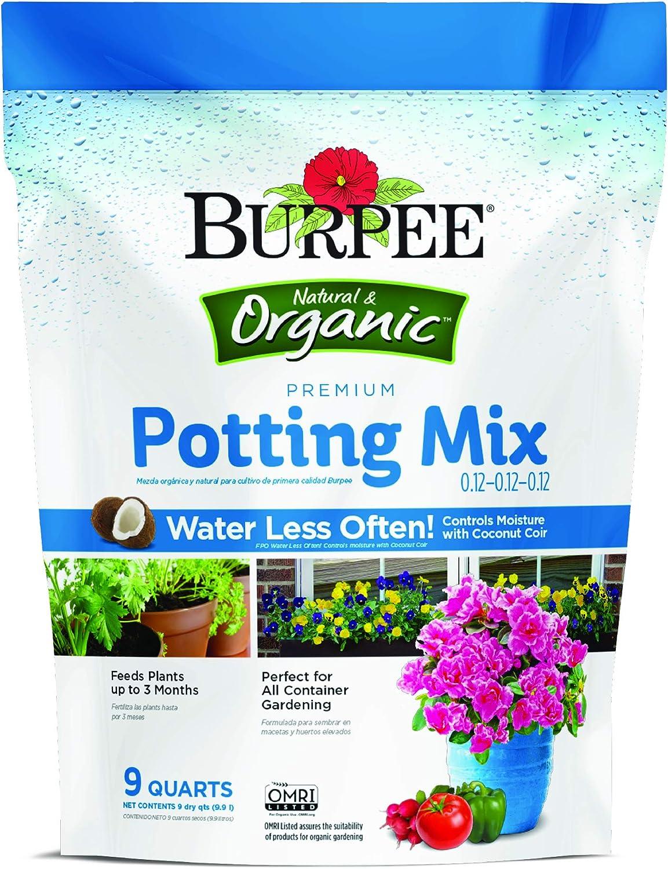 Burpee Premium Organic Potting Mix, 9 quart