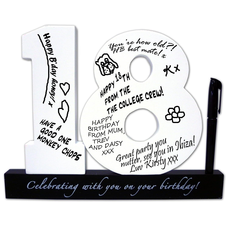 Happy 18th Birthday Signature Number Amazon Kitchen & Home