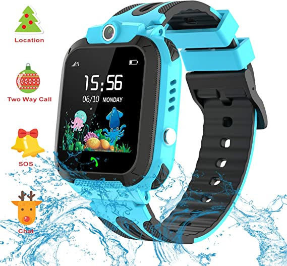 Themoemoe Kids GPS Watch. Kids Smartwatch with GPS Tracker Touch Screen IP68 Waterproof GPS/LBS Camera SOS Phone Game Birthday Gift for Girls Boys ...