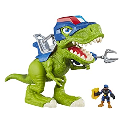 Playskool Heroes Chomp Squad Troopersaurus and Bobby Badge: Toys & Games