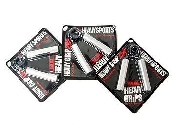 Heavy Grips HG150 + 200 + 250 - Set de 3 pinzas de entrenamiento de mano de fitness y ejercicio para hombre: Amazon.es: Deportes y aire libre