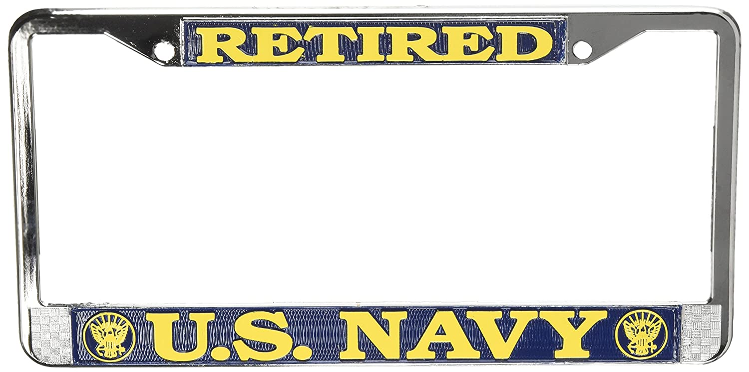 Amazon.com: US Navy Retired License Plate Frame (Chrome Metal ...