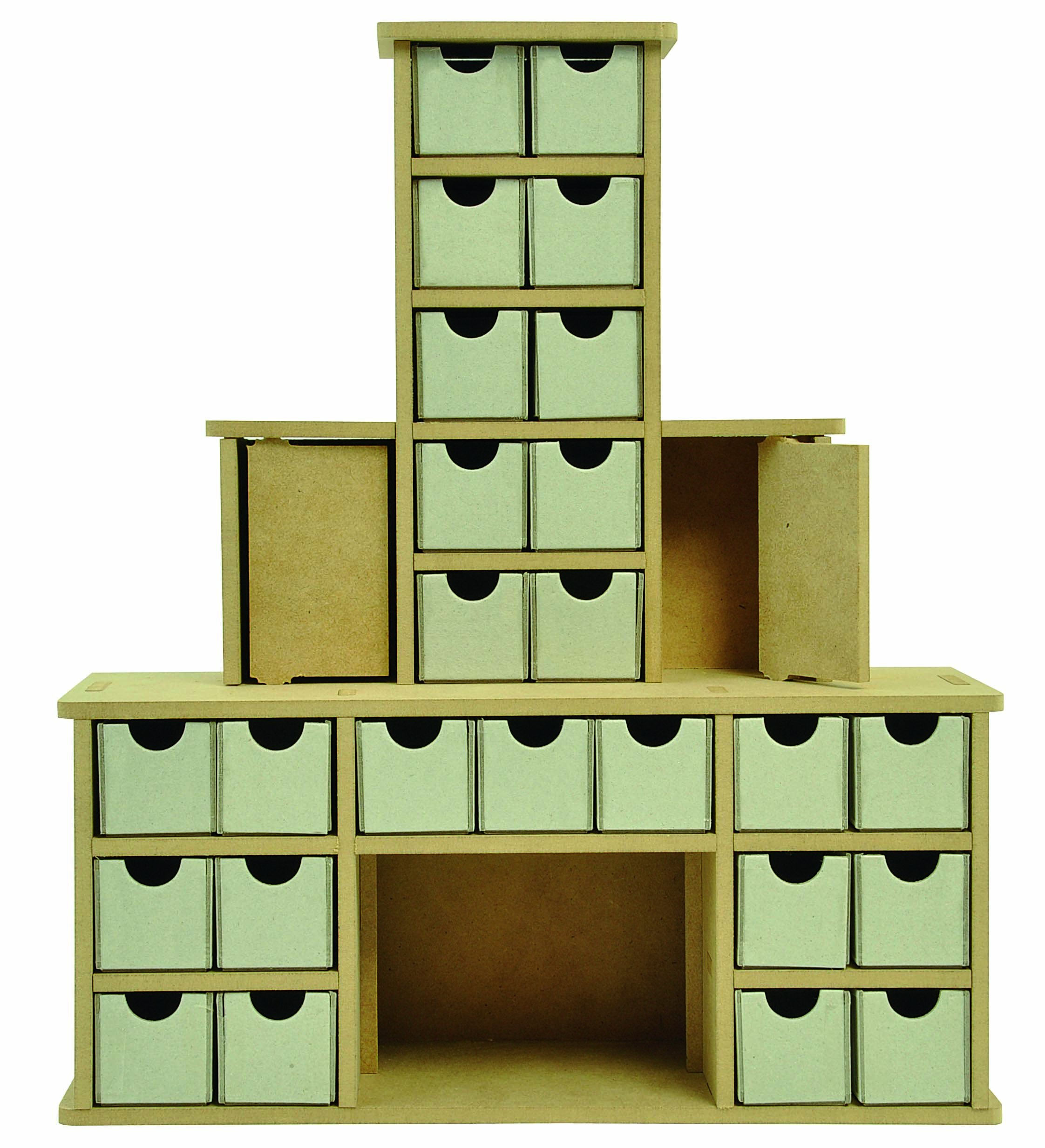 Kaisercraft SB2270 Beyond The Page MDF Chimney Advent Calendar, 13.5 by 4 by 15.5-Inch by Kaisercraft