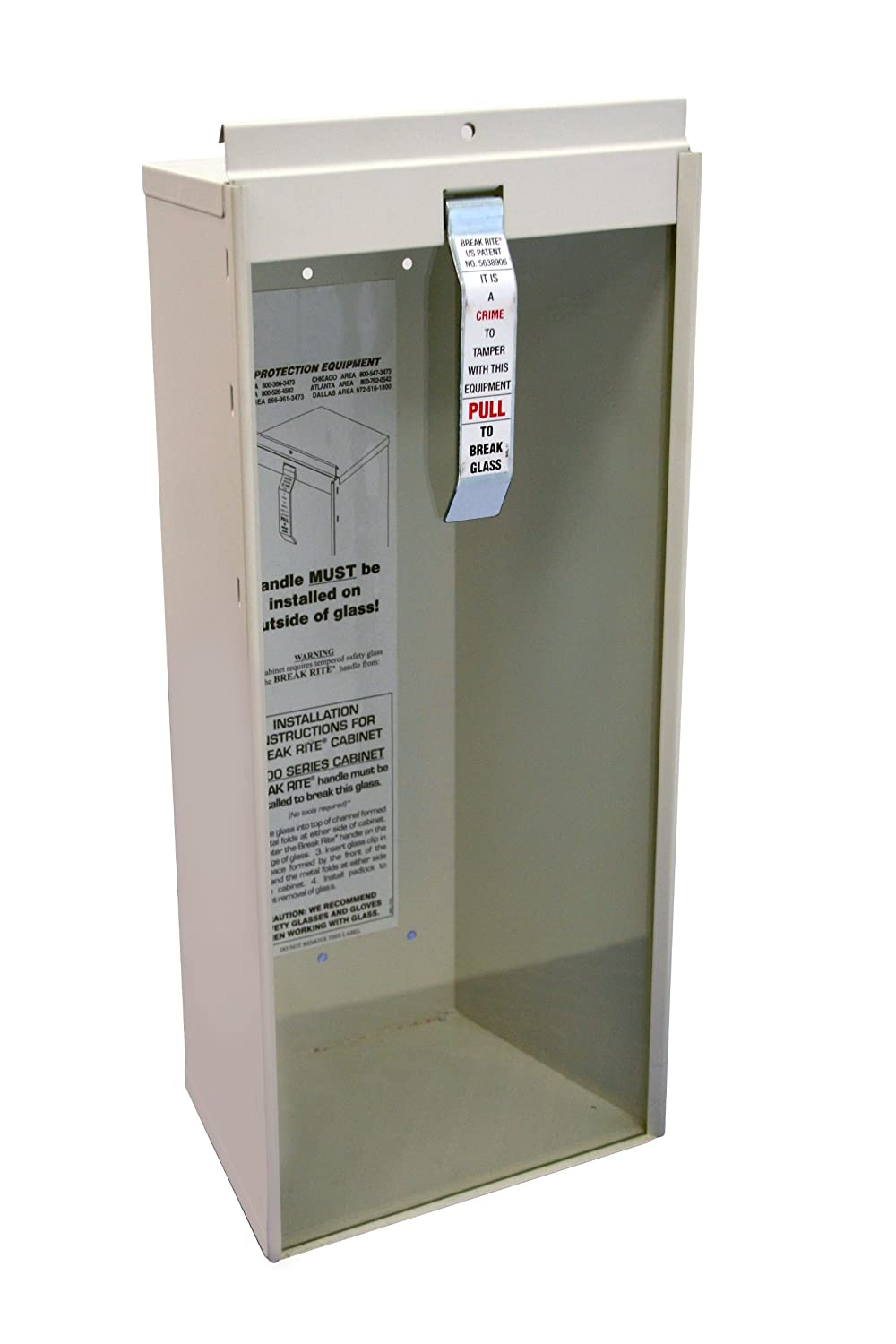Kidde 468041 Potter Roemer Surface Mount 5 Pound Fire Extinguisher Cabinet