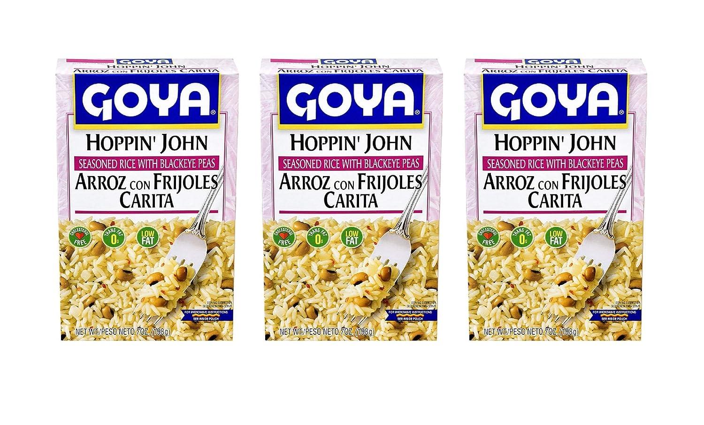 Goya Hoppin John Seasoned Rice with Blackeye Peas, (3 Pack, Total of 21oz)