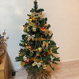 Amazon 週末5 Off価格 10 03 00 00 10 04 23 59 Lowya クリスマスツリー ツリー イルミネーション Led Aタイプ 1cm ゴールド クリスマスツリー おもちゃ