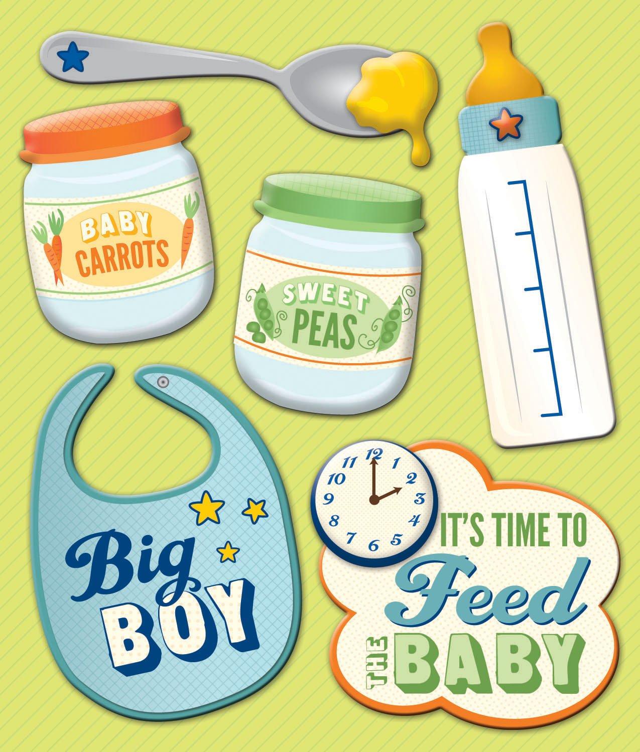 K&Company Baby Boy Food Sticker Medley EKS 30-628502