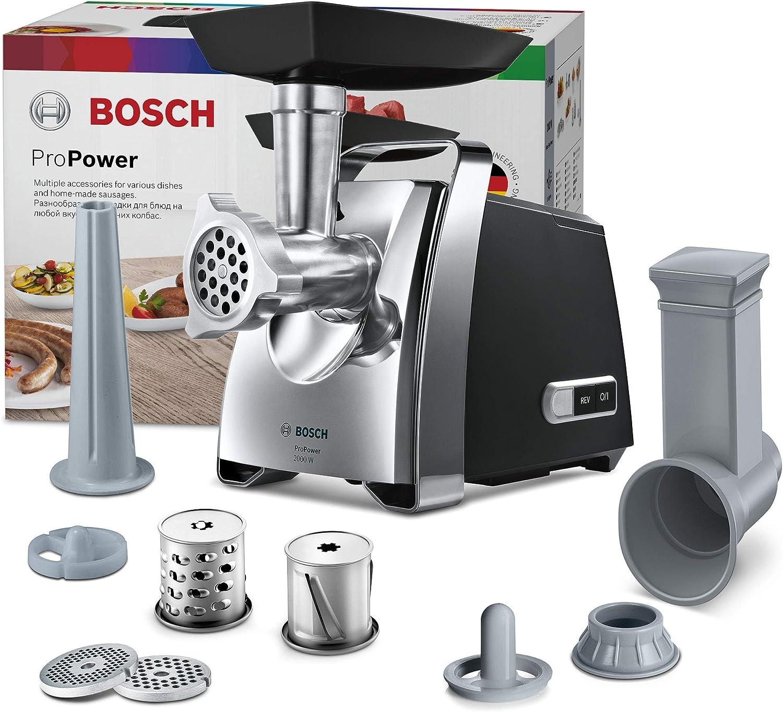 Bosch ProPower MFW67440 - Picadora de carne, 700 W, color plateado y negro: Amazon.es: Hogar