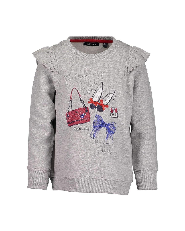 Blue Seven Mädchen Sweatshirt mit Satin-schleifchen, Felpa Bambina 764548 X