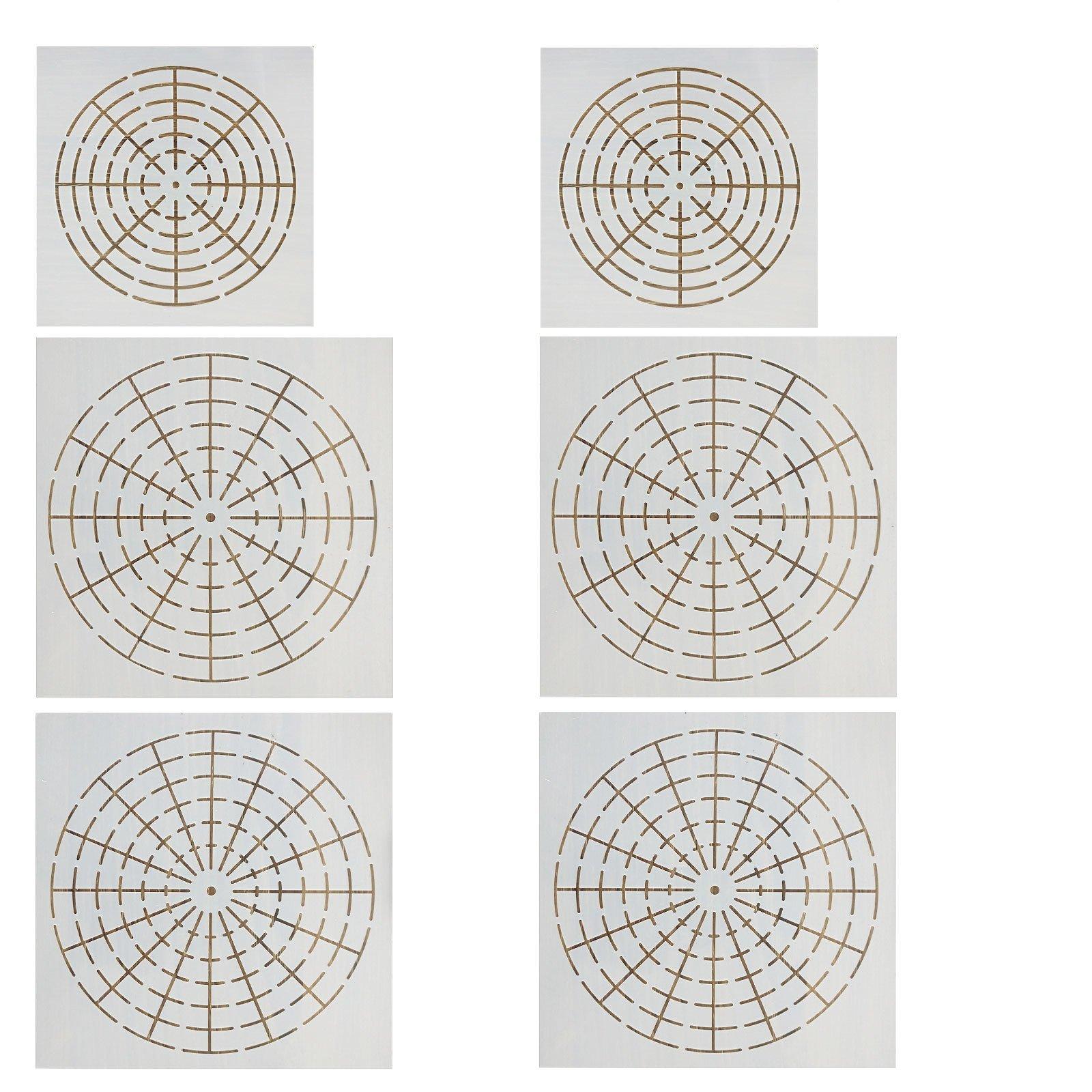 Topus 6 Pieces Mandala Dotting Stencils Mandala Dot Painting ...