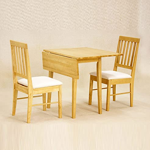 WorldStores Swiss 46 Cm, 92 Cm, Zusammenklappbarer Esstisch Mit 2 Stühlen,  2 Stühle