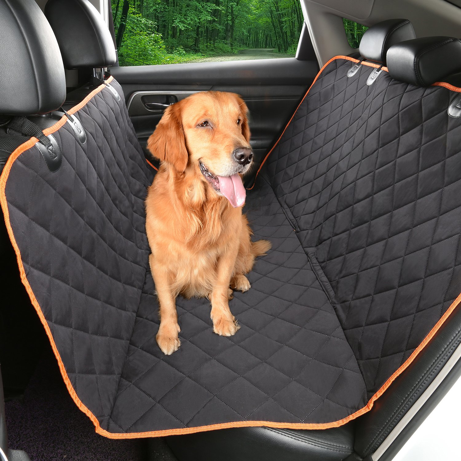 Environmental Dog car seat cover 54''Wx58''LIKET Patented TPU Hammock Pet Car