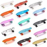 "meteor Skateboard Plastic Cruiser Ridge Mini Skate 22""/56cm Planche a roulettes Vintage Complet"