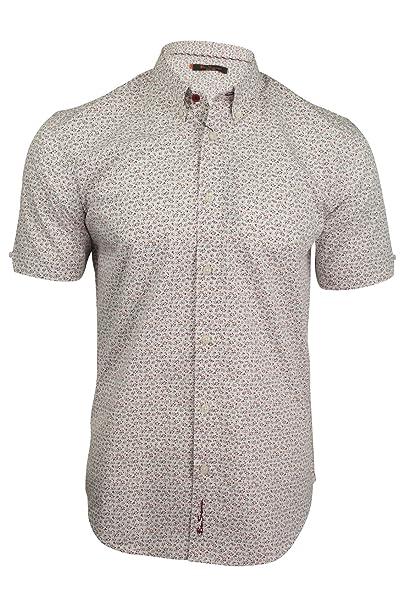 Ben Sherman - Camisa Casual - Floral - con Botones - Manga Corta - para  Hombre Blanco Blanco Medium  Amazon.es  Ropa y accesorios 5f2cadbe3cc8e