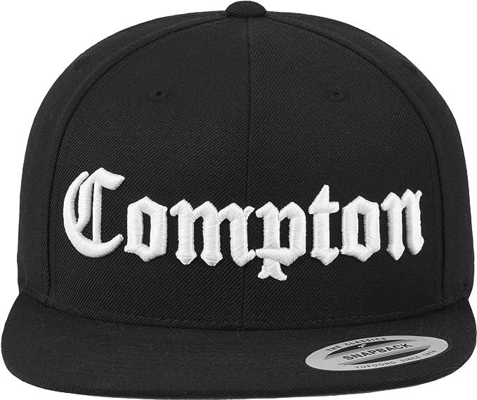 Mister Tee Cap-Gorra de Compton Negro Negro Talla:Talla única ...