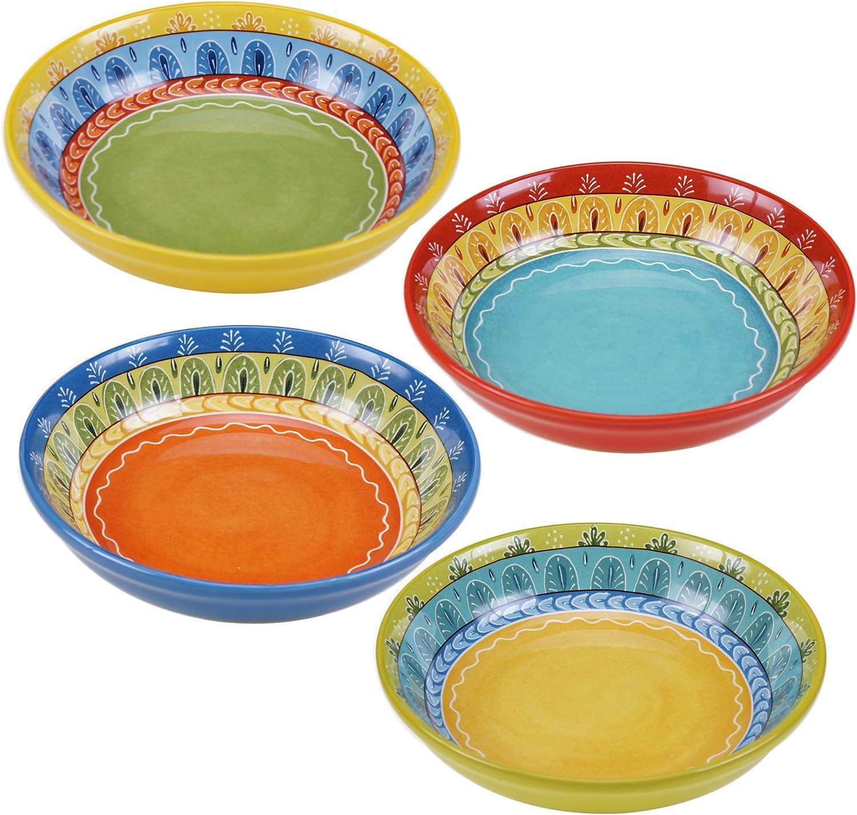LivIn Ceramic Dip Bowls Set Serve Dishes for Sauce Ketchup Black 6 Pack Vinegar