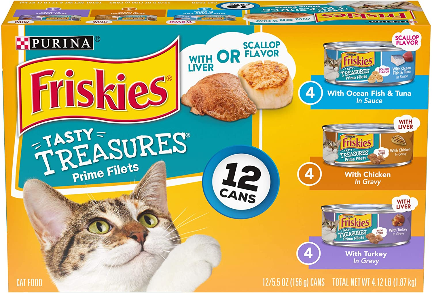 Purina Friskies Tasty Treasures Adult Wet Cat Food Variety Pack