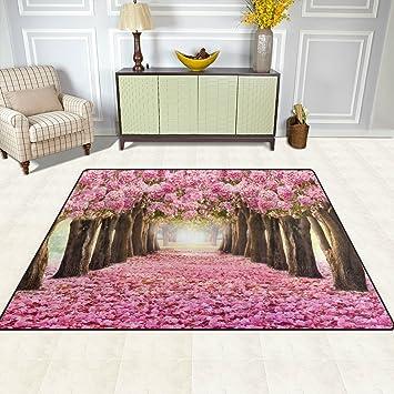 Hochwertig Doshine Bereich Teppiche Matte Teppich 4 U0027X5u0027, Japan Japanische Sakura Pink  Blume Baum