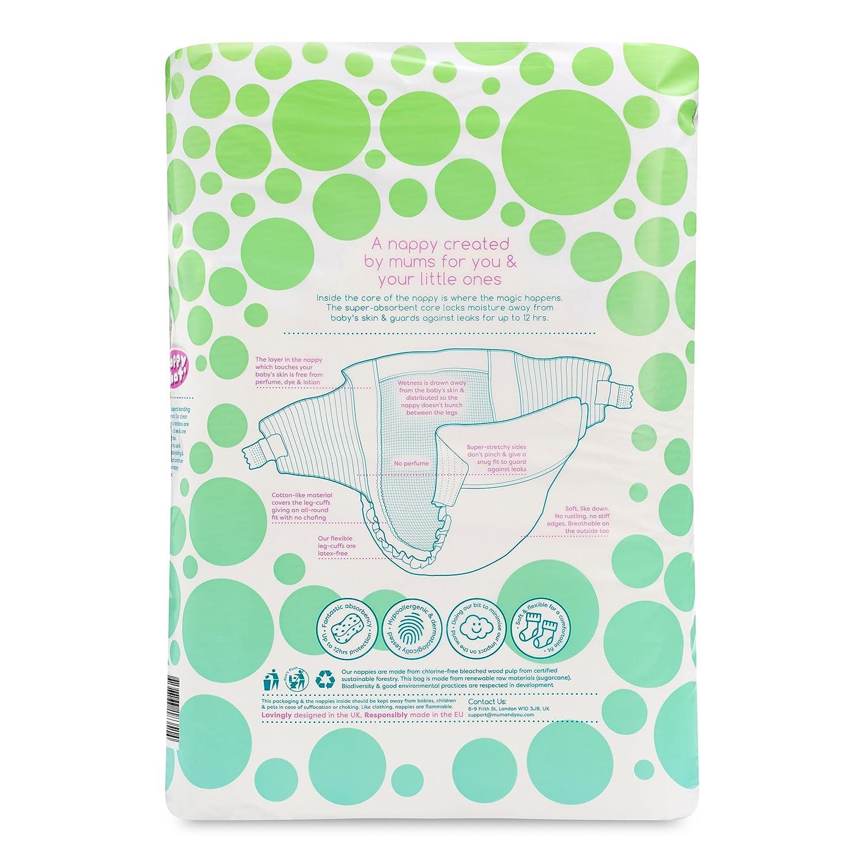 Mum & You - Pañales Nappychat Hipoalergénicos, Talla 3, (66 Pañales). Hasta 12 horas de sequedad. Testado dermatológicamente, sin perfumes ni lociones y ...