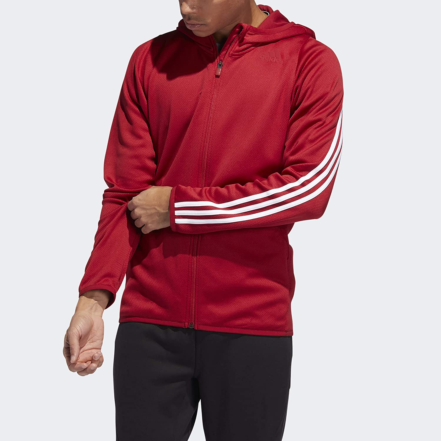 adidas Men's Daily 3-Stripes Hooded Sweatshirt