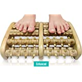TheraFlow Dual Foot Massager Roller (XL) - Relax & Relieve Foot Pain & Plantar Fasciitis - 2017 Enhanced Model - Laminated Foot Chart & Detailed Instructions Included
