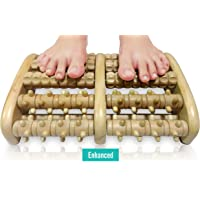TheraFlow Dual Foot Massager Roller (XL) - Relax & Relieve Foot Pain & Plantar Fasciitis - 2018 Enhanced Model - Laminated Foot Chart & Detailed Instructions Included
